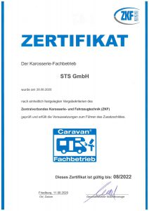 Caravan Zertifikat
